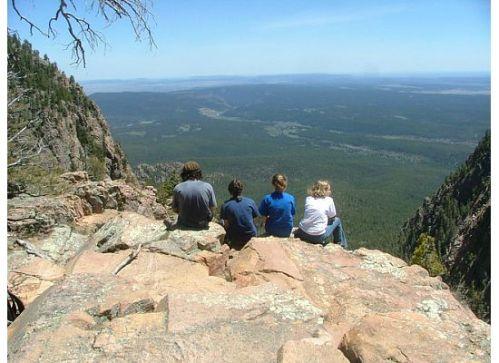hermits peak group new mexico hike