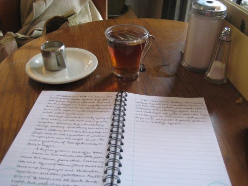 queens lane tea journal table