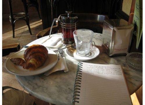 valencia spain cafe tea croissant