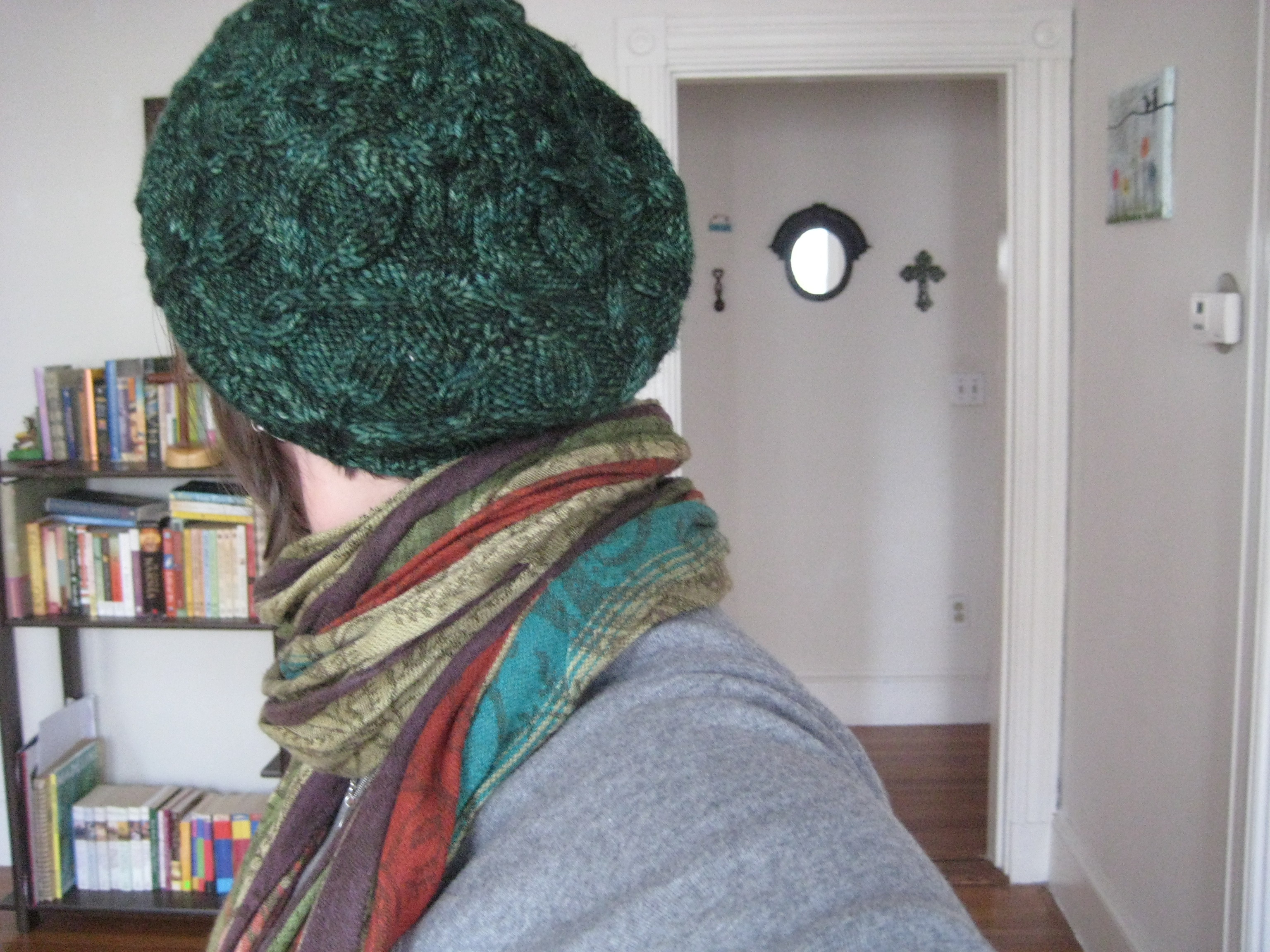 b0b273f5276b4 I fell in love last year with a Malabrigo colorway called Paris Night –  smoky and velvety and rich. Here s my Star Crossed Slouchy Beret (Rav  link)