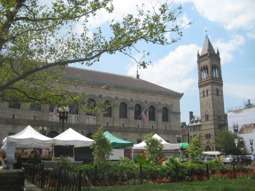 Farmers' tents in Copley Square