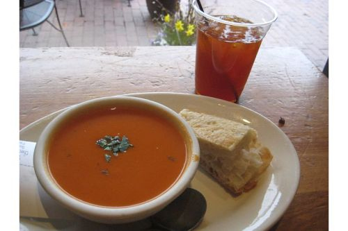 crema cafe tomato soup iced tea cambridge ma