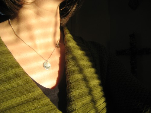 brave necklace pendant word sunlight