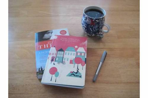 book journal tea writing breakfast