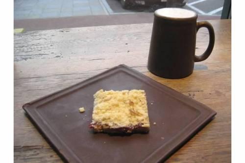 cafe zing chai latte dessert porter square books