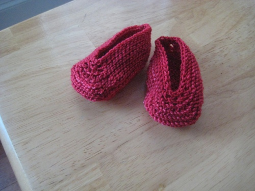 newborn magic slippers knitted