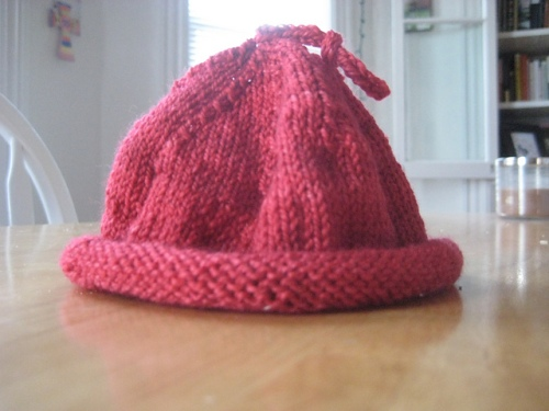 newborn baby hat knitted sock yarn