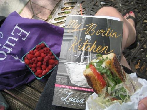 book sandwich raspberries farmers market