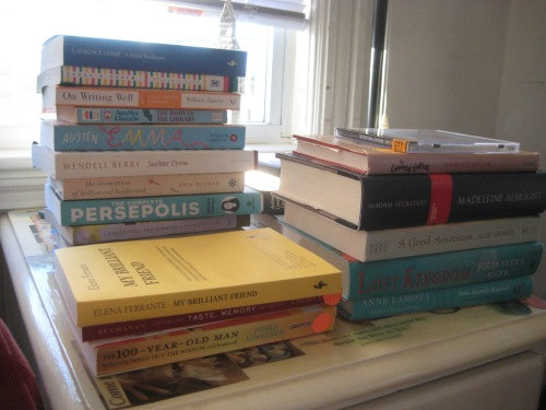 book stacks to be read