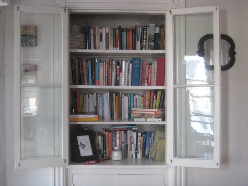 china cabinet bookcase books