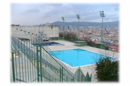 olympic pools montjuic barcelona spain