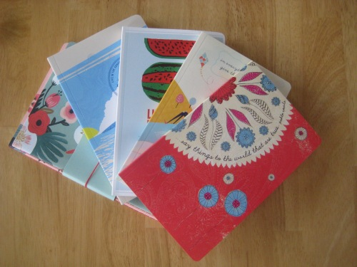 journals notebooks stack