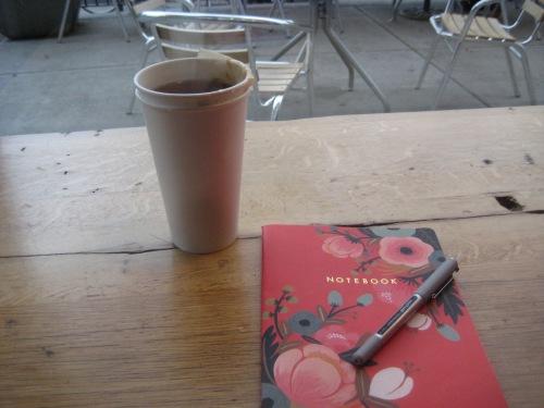 tea journal window cafe
