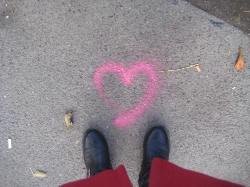 graffiti heart boots public garden