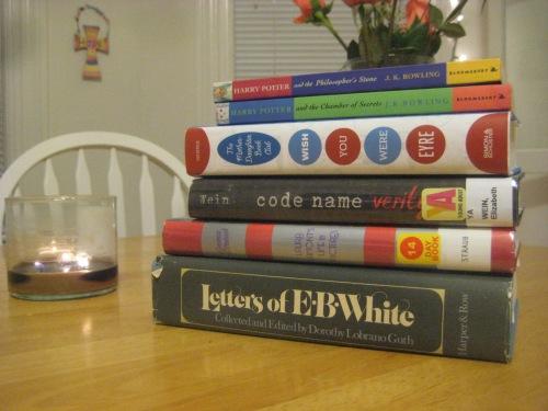 november books candle harry potter e.b. white