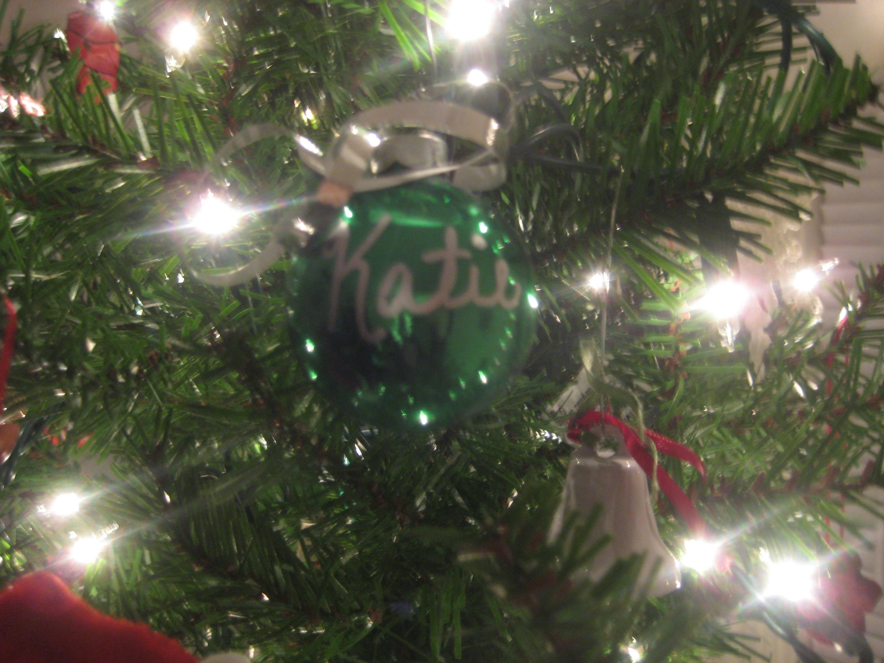 green christmas ball ornament