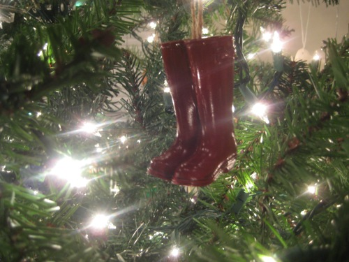 red boots ornament