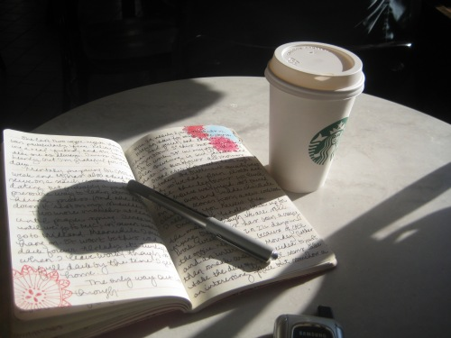starbucks chai table journal sunshine