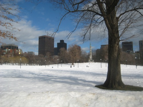 boston common snow