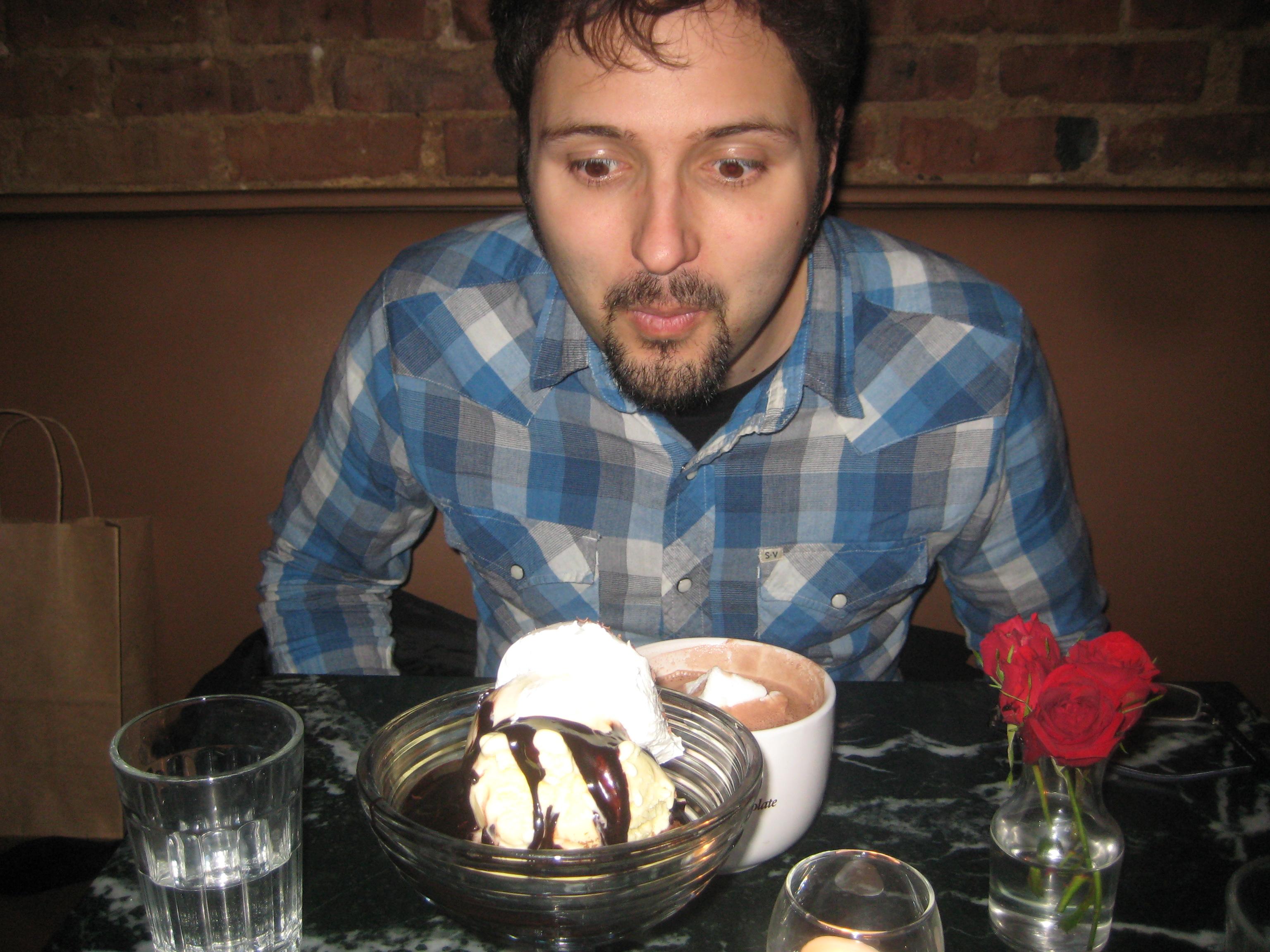 chocolate room brownie sundae