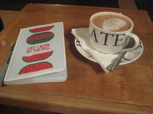 hot chocolate burdicks journal watermelon