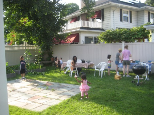 summer small group backyard