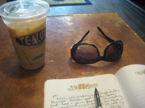 tealuxe iced chai sunglasses