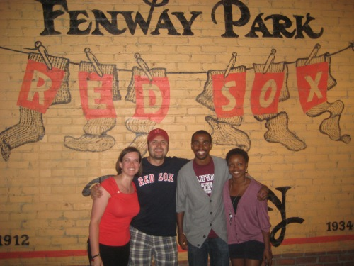 friends fenway park boston baseball