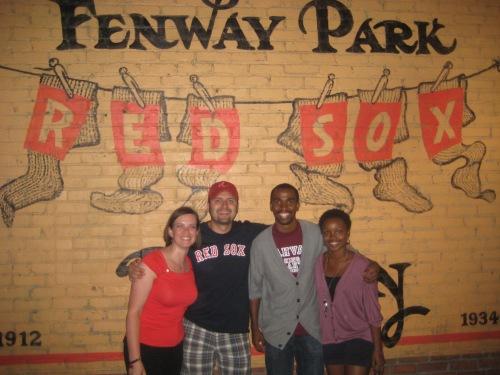 friends fenway park boston baseball