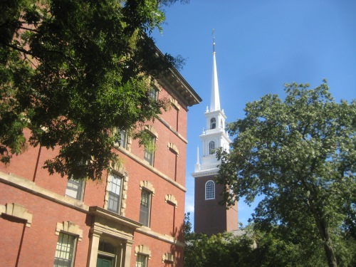 memorial church tower harvard yard