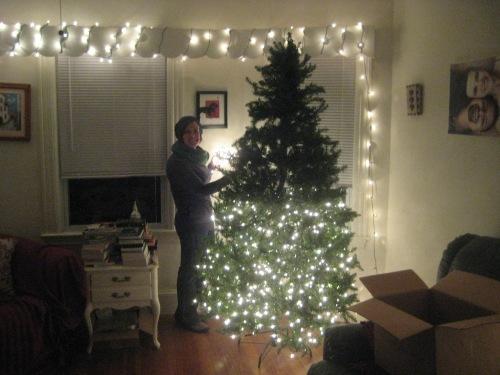 lights christmas tree decorating