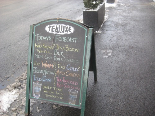 tealuxe sign winter