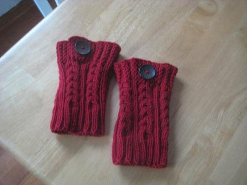 boot cuffs button red