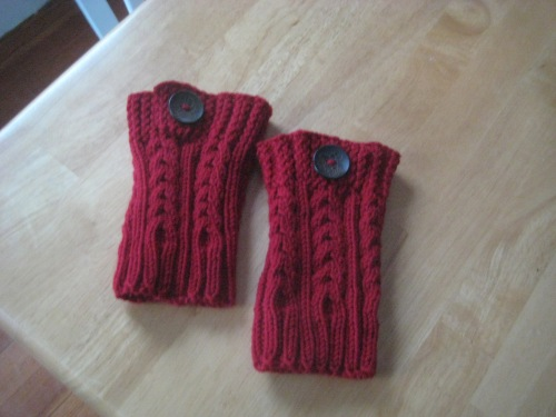boot cuffs button red