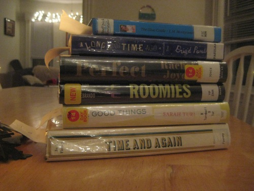 library book stack