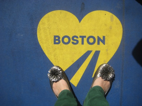 boston marathon finish line heart