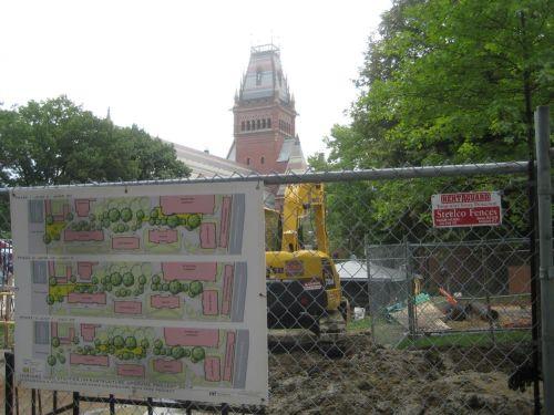 harvard yard construction