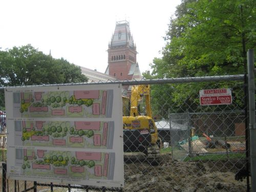 harvard yard construction