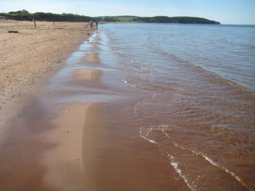 red sand beach pei