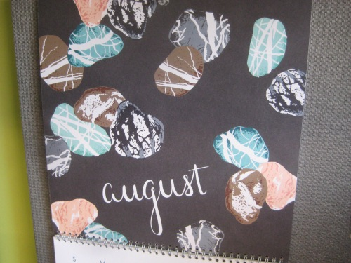 august calendar sea glass