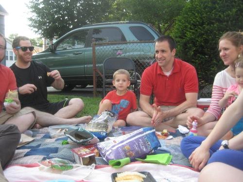 small group picnic