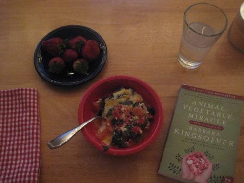 eggs dinner fruit book