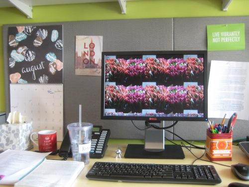 new office desk computer