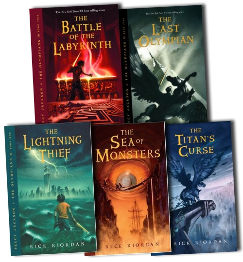 percy jackson books 1-5