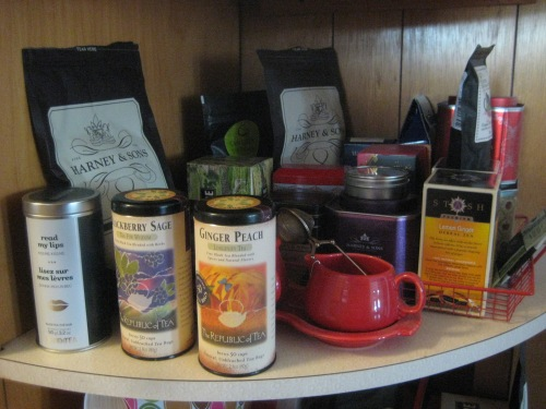 tea stash shelf