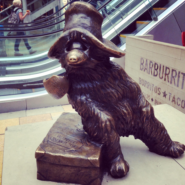 paddington bear statue