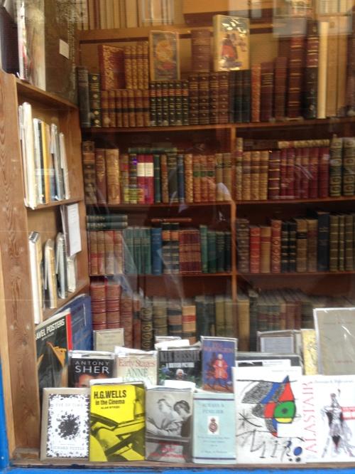 bookshop window books charing cross road london