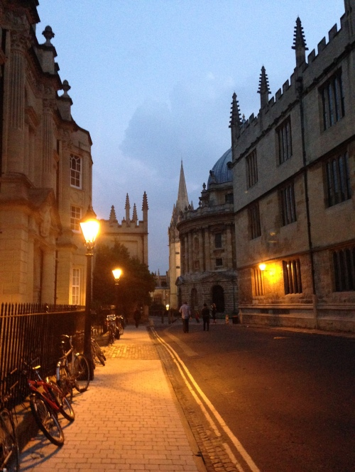 radcliffe square dusk oxford