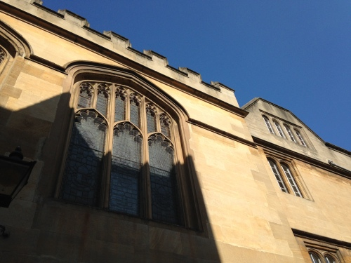 oxford wall blue sky