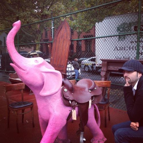 jer pink elephant brooklyn flea